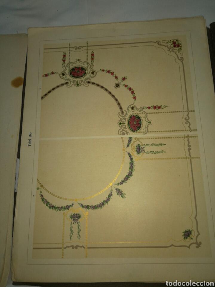 Libros antiguos: Manual de decoración Grohmann Malercien in Blumen und Ornament Serie IX - Foto 8 - 139576261