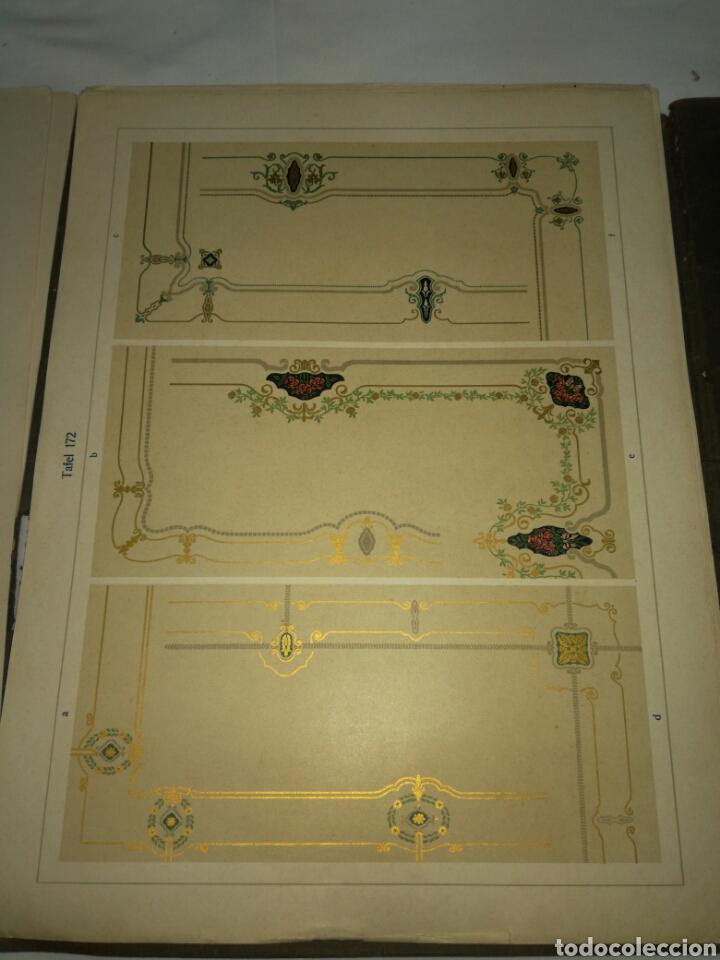 Libros antiguos: Manual de decoración Grohmann Malercien in Blumen und Ornament Serie IX - Foto 10 - 139576261