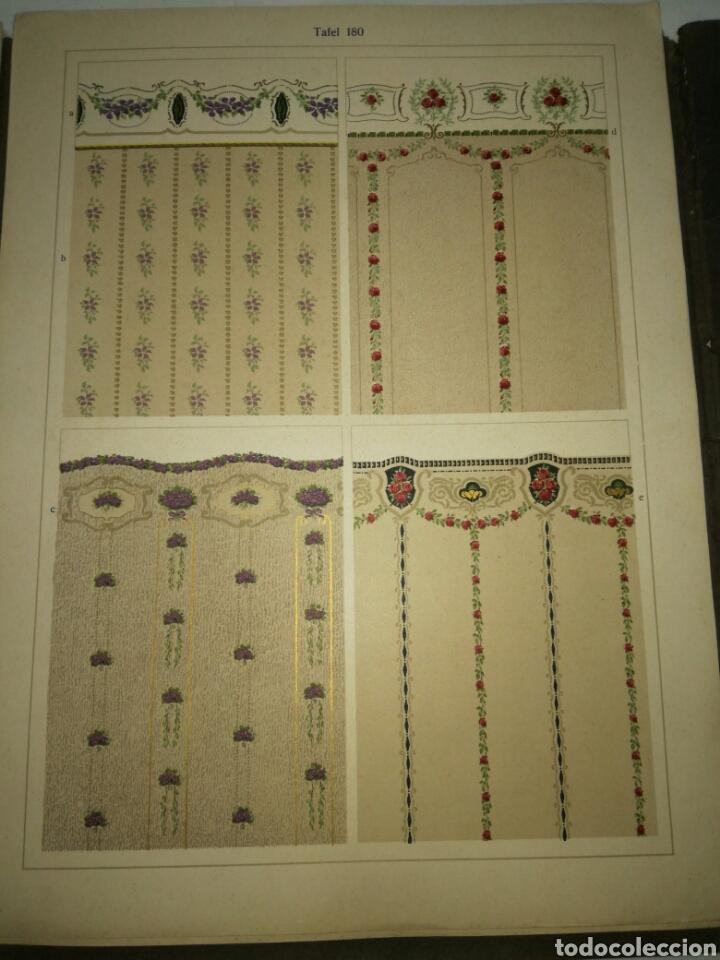 Libros antiguos: Manual de decoración Grohmann Malercien in Blumen und Ornament Serie IX - Foto 12 - 139576261