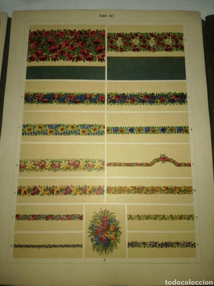 Libros antiguos: Manual de decoración Grohmann Malercien in Blumen und Ornament Serie IX - Foto 13 - 139576261