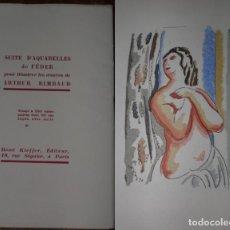 Libros antiguos: 46 ACUARELAS DE WALTER BRANDAO FEDER (1909-1957) SUITE DE ACUARELAS DE FEDER, LA NUMERO 1 DE 50 UNID. Lote 141709542
