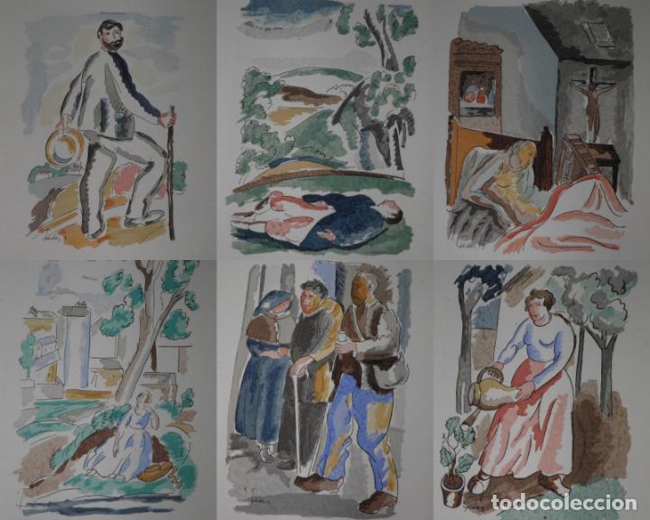 Libros antiguos: 46 ACUARELAS DE WALTER BRANDAO FEDER (1909-1957) SUITE DE ACUARELAS DE FEDER, LA NUMERO 1 DE 50 UNID - Foto 2 - 141709542