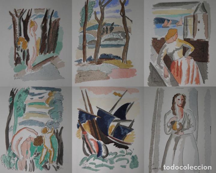 Libros antiguos: 46 ACUARELAS DE WALTER BRANDAO FEDER (1909-1957) SUITE DE ACUARELAS DE FEDER, LA NUMERO 1 DE 50 UNID - Foto 4 - 141709542