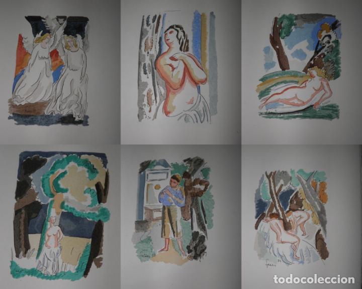 Libros antiguos: 46 ACUARELAS DE WALTER BRANDAO FEDER (1909-1957) SUITE DE ACUARELAS DE FEDER, LA NUMERO 1 DE 50 UNID - Foto 5 - 141709542