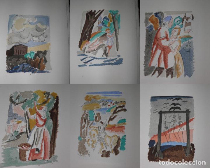 Libros antiguos: 46 ACUARELAS DE WALTER BRANDAO FEDER (1909-1957) SUITE DE ACUARELAS DE FEDER, LA NUMERO 1 DE 50 UNID - Foto 6 - 141709542