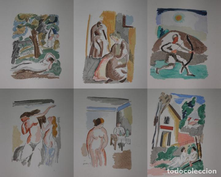 Libros antiguos: 46 ACUARELAS DE WALTER BRANDAO FEDER (1909-1957) SUITE DE ACUARELAS DE FEDER, LA NUMERO 1 DE 50 UNID - Foto 7 - 141709542