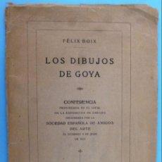 Libros antiguos: LOS DIBUJOS DE GOYA.. Lote 141738142