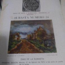 Libros antiguos: SUBASTAS DURAN. Lote 142997434