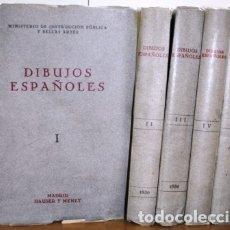 Libros antiguos: DIBUJOS ESPAÑOLES. SIGLOS X-XVII. MATERIAL REUNIDO POR EL CENTRO DE ESTUDIOS HISTÓRICOS, Y PUBLICADO. Lote 105479572