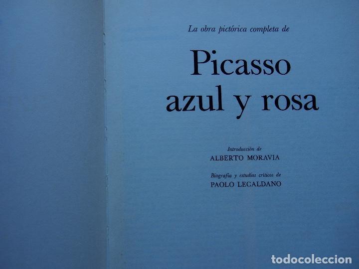 Libros antiguos: La obra pictórica completa de Picasso azul y rosa - Alberto Moravia - Paolo Lecaldano - Foto 2 - 144243114