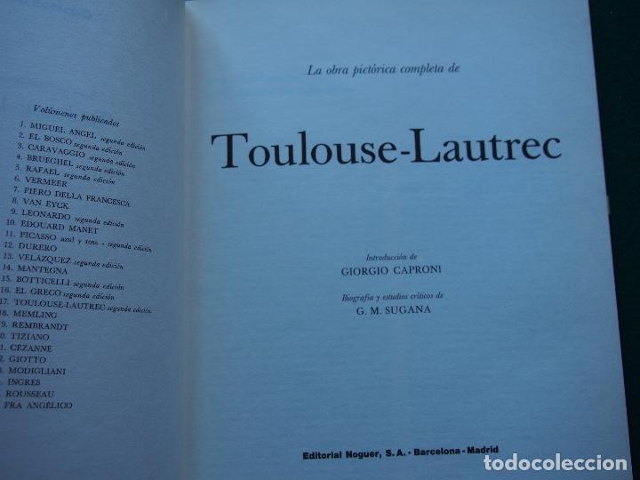 Libros antiguos: La obra pictórica completa de Toulouse Lautrec- Giorgio Caproni - G. M. Sugana - Foto 2 - 249523385