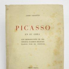 Libros antiguos: PICASSO EN SU OBRA, JAUME SABARTÉS, 1936, CRUZ Y RAYA, MADRID. 17,5X23,5CM. Lote 147166394