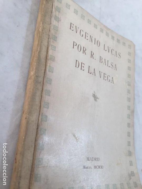 Libros antiguos: Eugenio Lucas por R Balsa de la Vega Madrid 1911 ilustrado - Foto 2 - 147815158