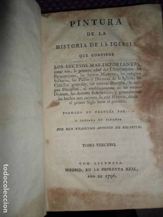 PINTURA DE LA HISTORIA DE LA IGLESIA, TOMO TERCERO, 1796 (Libros Antiguos, Raros y Curiosos - Bellas artes, ocio y coleccion - Pintura)