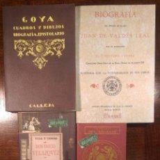Libros antiguos: 4 LIBROS FACSÍMILES RELATIVOS A LA PINTURA. VELÁZQUEZ, GOYA, VALDÉS LEAL HISTORIA DEL GRABADO. Lote 220890330