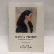 Libros antiguos: CATALOGO ARTE - EXPOSICIÓ PINTURA RAMON PICHOT - AÑO 1979 - SALA PARÉS / N-8339. Lote 156893486
