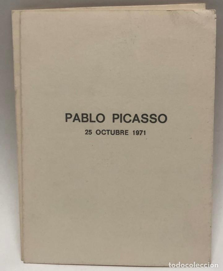 CATÁLOGO ARTE - EXPOSICIÓN PABLO PICASSO - UN PORTRAIT 25 OCTUBRE 1971 / N-8365 (Libros Antiguos, Raros y Curiosos - Bellas artes, ocio y coleccion - Pintura)