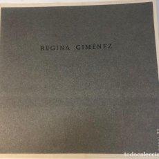 Libros antiguos: CATÁLOGO ARTE - EXPOSICIÓN REGINA GIMÉNEZ - ESPAI 21 - AÑO 2002 / N-8373. Lote 157814026