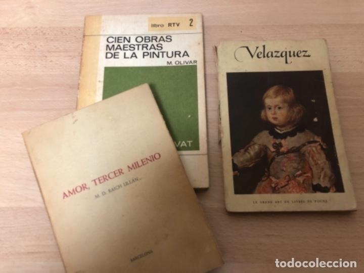 Libros antiguos: LOTE DE 3 LIBROS , CIEN OBRAS MAESTRAS DE LA PINTURA , VELÁZQUEZ , Y AMOR TERCER MILENIO . - Foto 2 - 158364906