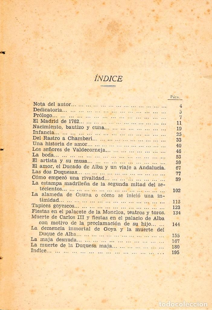 Libros antiguos: La Duquesa de Alba, Maja y musa de Francisco de Goya (Francisco Bonmatí), Ver indice - Foto 2 - 158825338