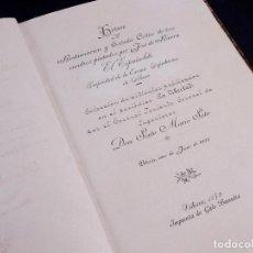 Libros antiguos: HISTORIA DE LA RESTAURACIÓN... DE TRES CUADROS PINTADOS POR JOSÉ DE RIVERA. VITORIA 1892. Lote 161647710
