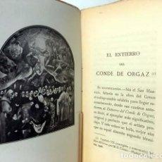 Libros antiguos: M. B. COSSÍO : EL ENTIERRO DEL CONDE DE ORGAZ. (V. SUÁREZ. 1ª ED., 1914) EL GRECO. TOLEDO. Lote 162485978
