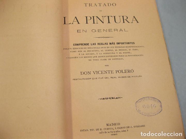 Libros antiguos: Tratado de la Pintura. Vicente Poleró. Madrid. 1886. - Foto 3 - 166602718