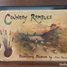 Libros antiguos: COUNTRY RAMBLES. PAINTING ALBUM. Nº 2602. ALAN BARRAUD. PUBL. CHEIR MAJESTIES.. Lote 168559448
