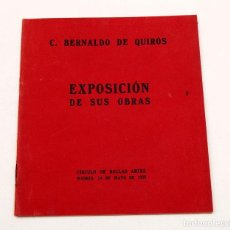 Libros antiguos: CESÁREO BERNALDO DE QUIROS - EXPOSICIÓN DE SUS OBRAS - TEXTO DE RICARDO ROJAS - 1929 - MADRID. Lote 168668136