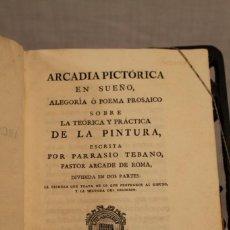 Libros antiguos: PARRASIO TEBANO,1789, ARCADIA PICTÓRICA EN SUEÑO. Lote 169310544