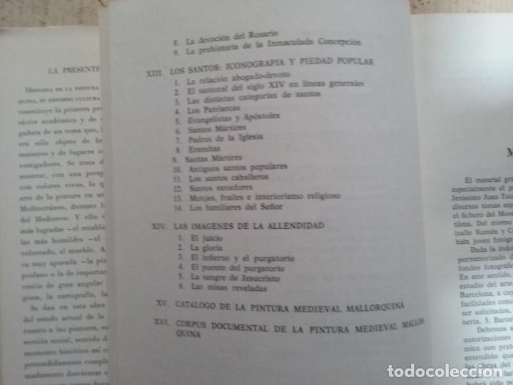 Libros antiguos: LA PINTURA MEDIEVAL MALLORQUINA: SU ENTORNO CULTURAL Y SU ICONOGRAFIA - GABRIEL LLOMPART (TOMO I) - Foto 10 - 169747612