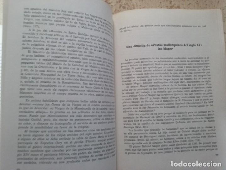 Libros antiguos: LA PINTURA MEDIEVAL MALLORQUINA: SU ENTORNO CULTURAL Y SU ICONOGRAFIA - GABRIEL LLOMPART (TOMO I) - Foto 13 - 169747612