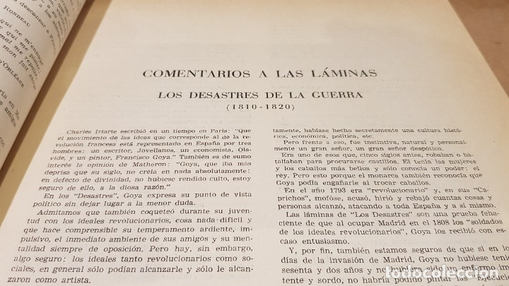 Libros antiguos: GOYA / LOS DESASTRES DE LA GUERRA / COLECCIÓN 82 AGUAFUERTES / ED - TARTESSOS / OCASIÓN ! - Foto 3 - 169757984