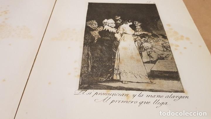 Libros antiguos: GOYA / LOS CAPRICHOS / COLECCIÓN 21 AGUAFUERTES / ED- TARTESSOS - Foto 3 - 169758568