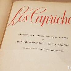 Libros antiguos: GOYA / LOS CAPRICHOS / COLECCIÓN 21 AGUAFUERTES / ED- TARTESSOS. Lote 169758568