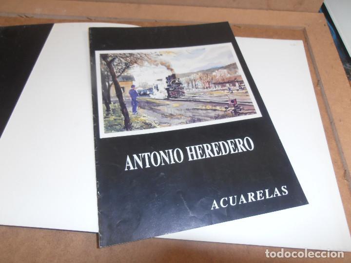 Libros antiguos: Antonio Heredero. Antolóxica. Catálogo de Exposición. + CATALOGO ACUARELAS - Foto 9 - 170130412