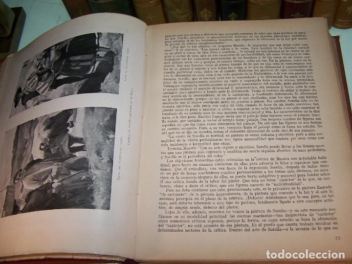 Libros antiguos: La vida y la obra de Joaquín Sorolla. Estudio biográfico y crítico. Bernardino de Pantorba. 1953. - Foto 4 - 172166559