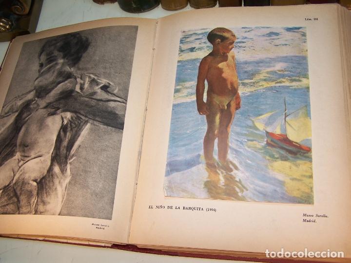 Libros antiguos: La vida y la obra de Joaquín Sorolla. Estudio biográfico y crítico. Bernardino de Pantorba. 1953. - Foto 5 - 172166559