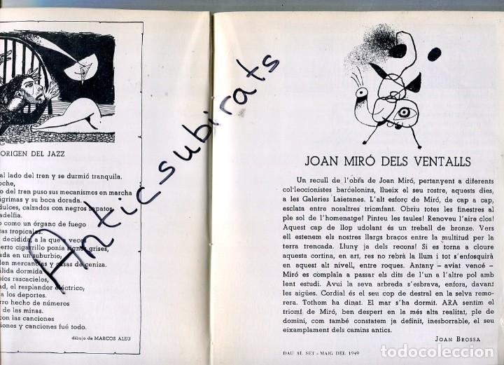 Libros antiguos: LIBRO AÑ 1978 DALI JAZZ EN BARCELONA 1952 CARTELES ANTONIO TAPIES JOAN MIRO CUIXART JOAN BROSSA PONÇ - Foto 2 - 173813827