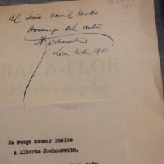 Libros antiguos: BACA FLOR DEDICADO POR SU AUTOR ALBERTO JOCHAMOWITH 1941.LIMA. Lote 173880227