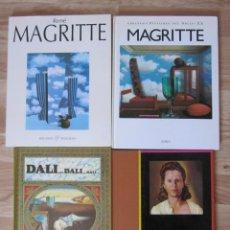 Libros antiguos: LOTE DE LIBROS DE MAGRITTE Y DALI . Lote 174011110