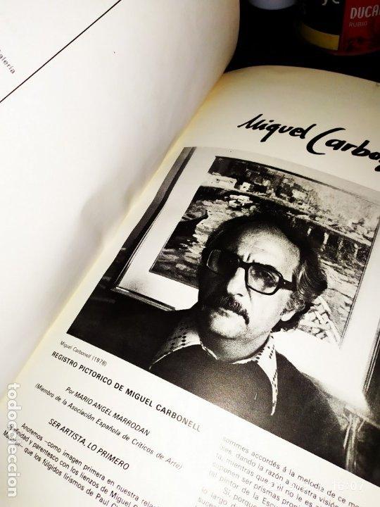 Libros antiguos: 1974 MIGUEL CARBONELL MAESTROS ACTUALES DE LA PINTURA ESCULTURA CATALANA 40 DEDICADO A PADRÓ UNICO - Foto 9 - 175512933