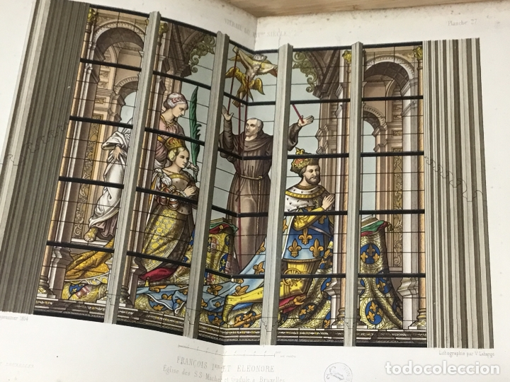 Libros antiguos: HISTORIA DE LA PINTURA SOBRE CRISTAL. ESPECIALMENTE EN BÉLGICA. EDMOND LÉVY. BRUXELLES. - Foto 8 - 176142124