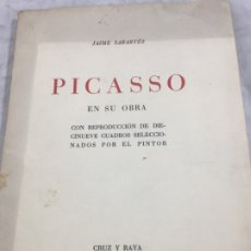 Libros antiguos: PICASSO EN SU OBRA REPRODUCCION DIECINUEVE CUADROS SELECCIONADOS POR EL PINTOR JAIME SABARTES 1936 1. Lote 177112773