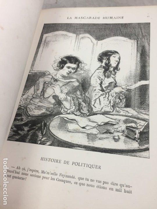 Libros antiguos: LA MASCARADE HUMAINE Histoire de politiquer Les propos de Thomas Vireloque Les bohèmes 1881 Frances - Foto 4 - 178815296