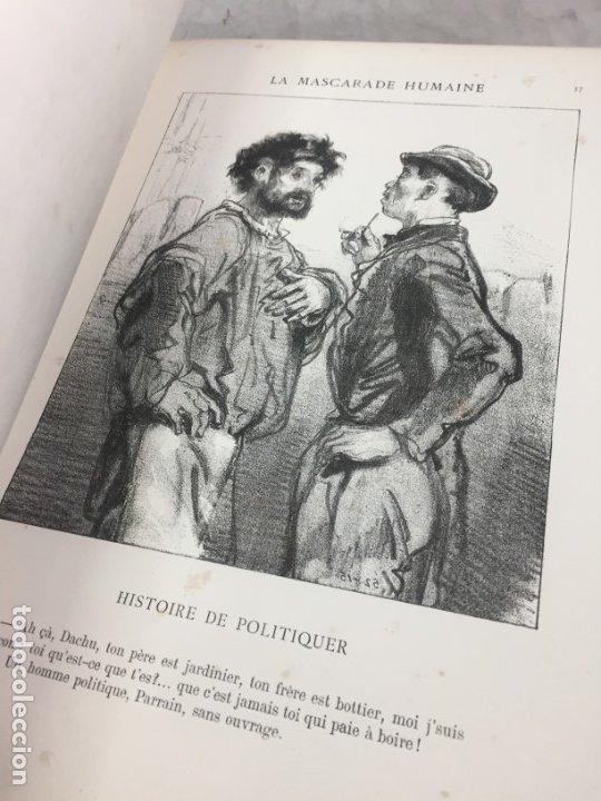 Libros antiguos: LA MASCARADE HUMAINE Histoire de politiquer Les propos de Thomas Vireloque Les bohèmes 1881 Frances - Foto 6 - 178815296