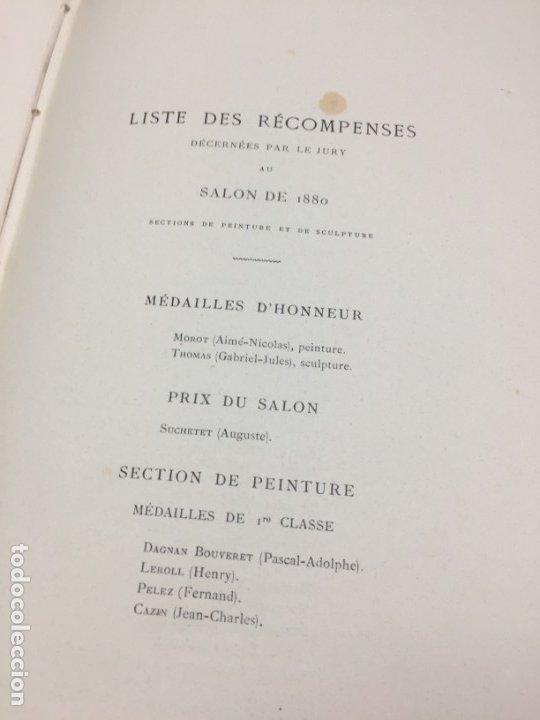 Libros antiguos: LÉxpositions des Beaux-Arts (Salon de 1880). Ed. Ludovic Baschet. Paris, 1880 Fotograbados Francés - Foto 2 - 178816967