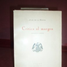 Libros antiguos: JUAN DE LA ENCINA ... CRITICA AL MARGEN ... 1924. Lote 179325695