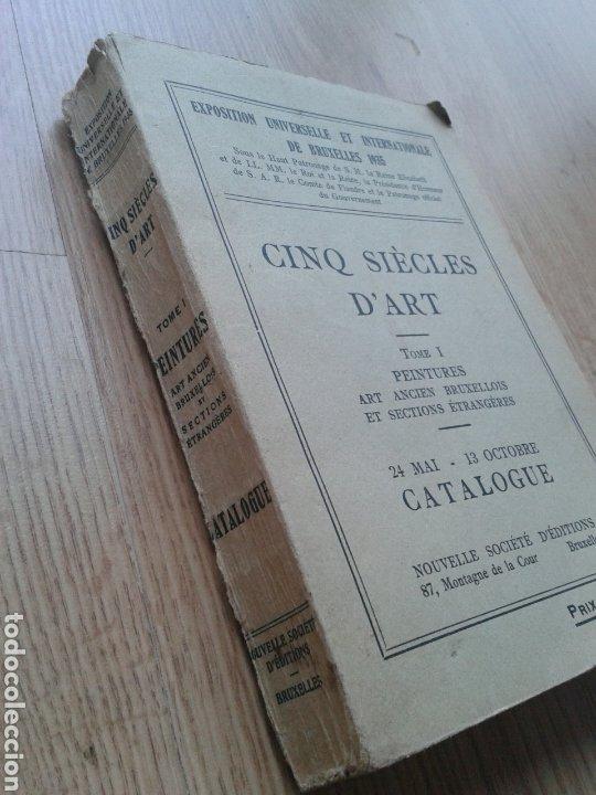 Libros antiguos: Cinq Siècles d Art - Tomo I - Peintures. Exposición Bruselas. 1935. - Foto 2 - 180096260