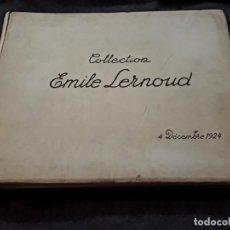 Libros antiguos: COLLECTION EMILE LERNOUD 1924 GRAN ÁLBUM FOTOS ORIGINALES DIAZ DEL PEÑA FADER COROT BONNAT STEINLEN . Lote 182041670